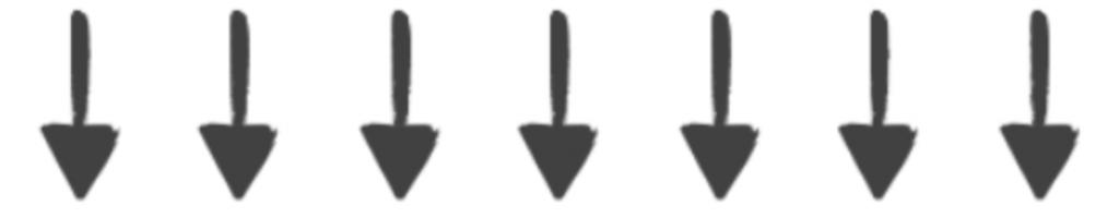 Señales en el espacio: flechas